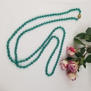 Green Necklace Long